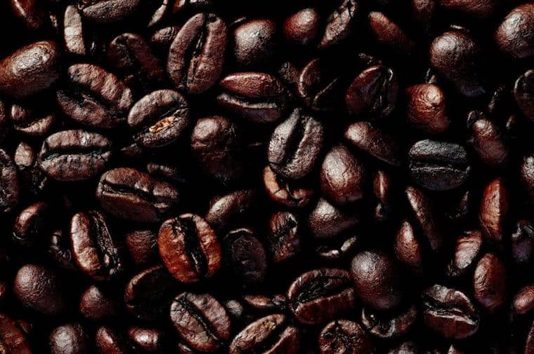 are oily coffee beans bag