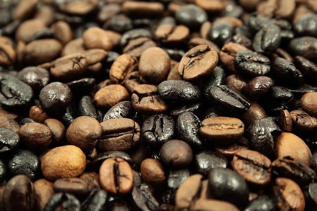 combining coffee beans