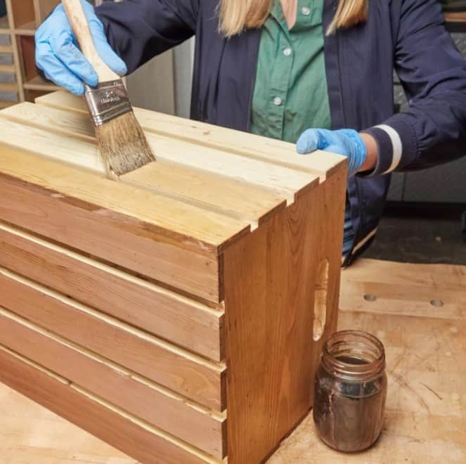 staining with coffee grounds