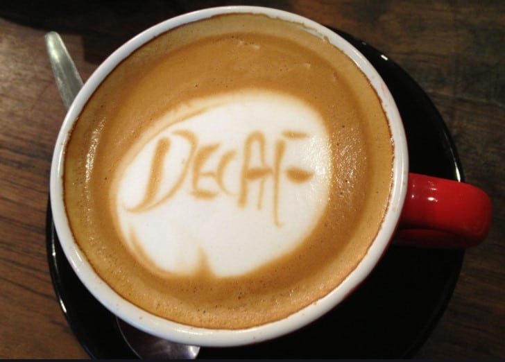 Cup of decaf