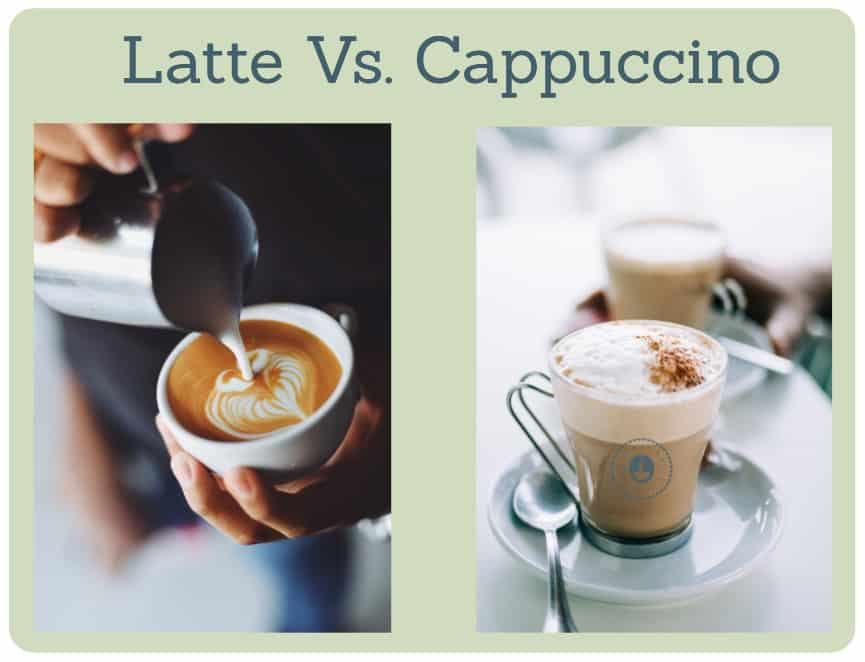 what's the difference between cappuccino and latte?