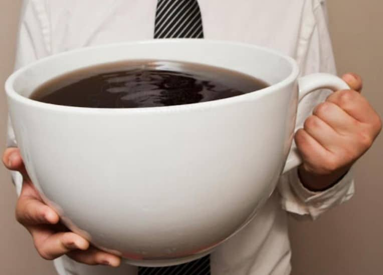 Large mug of coffee